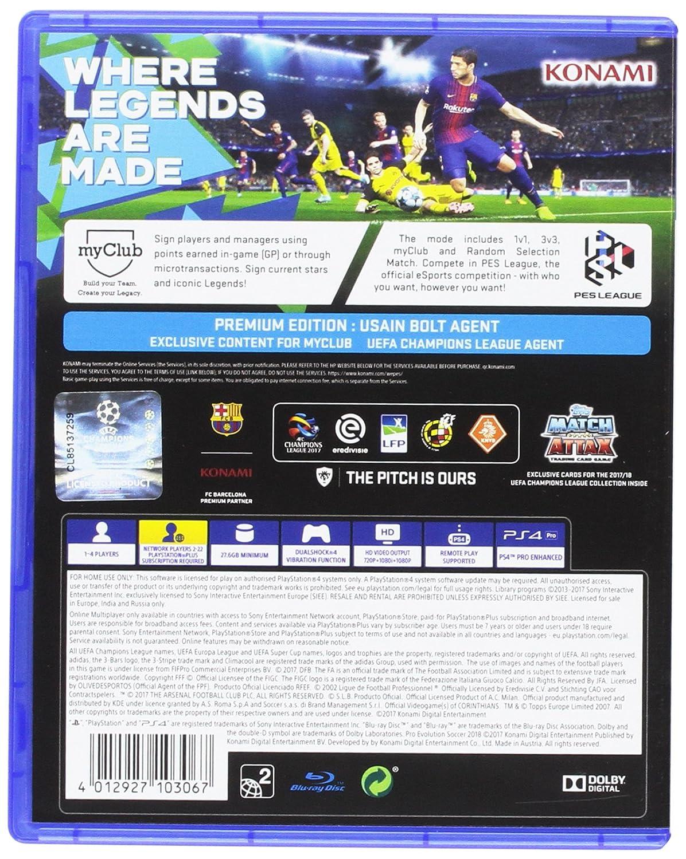 Pes 2018 Ps4 Pc Video Games Bd Pro Evolution Soccer Premium Edition Reg 2