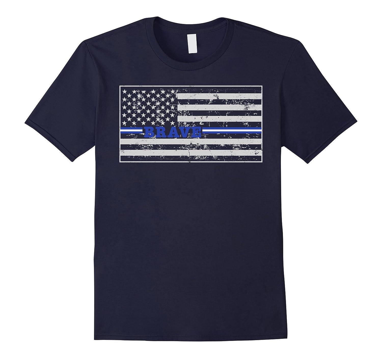 Brave Paramedic EMT Thin White Line Flag Shirt-TD