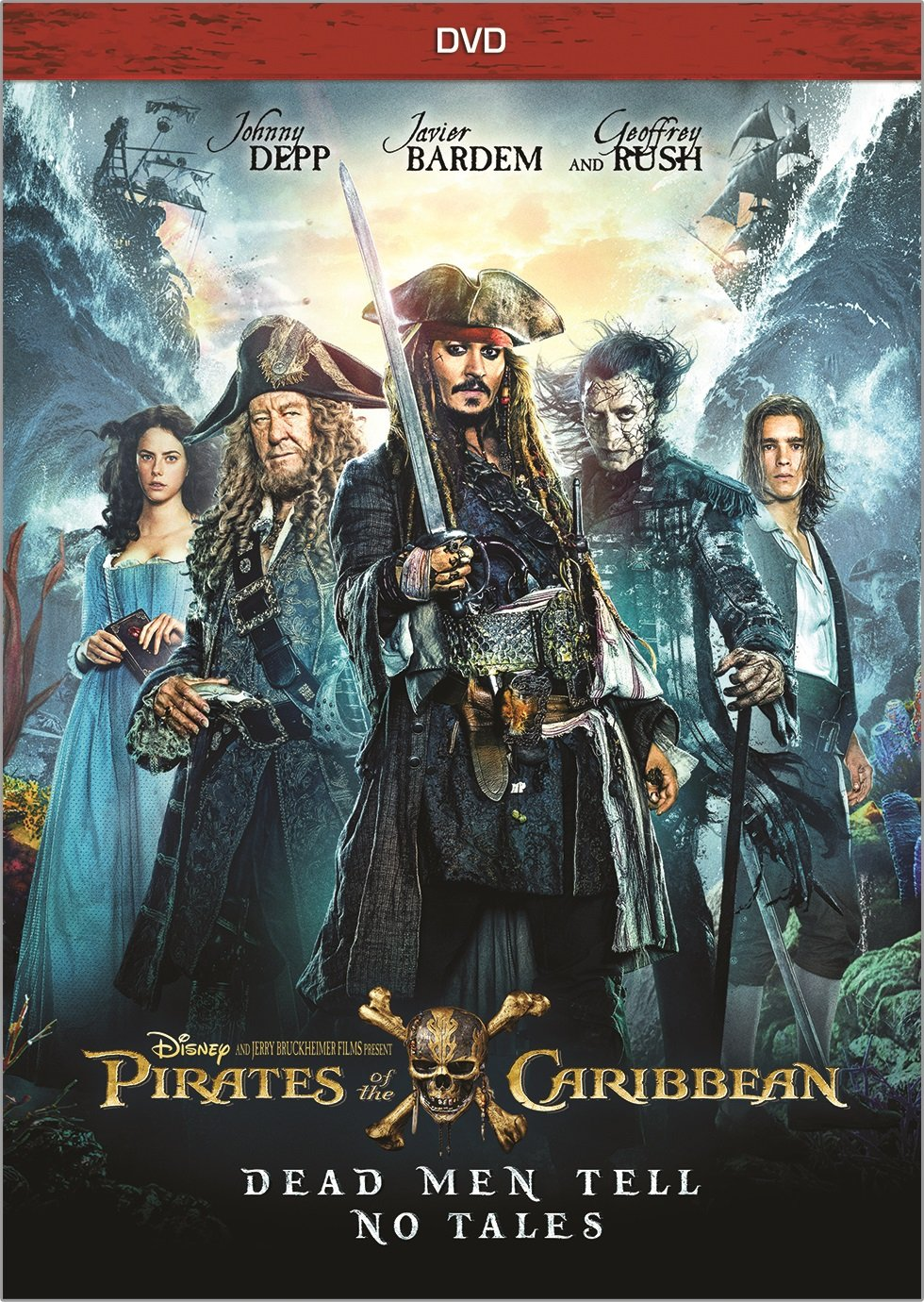 Pirates of the Caribbean: Dead Men Tell No Tales (Bilingual) Johnny Depp Javier Bardem Geoffrey Rush Brenton Thwaites