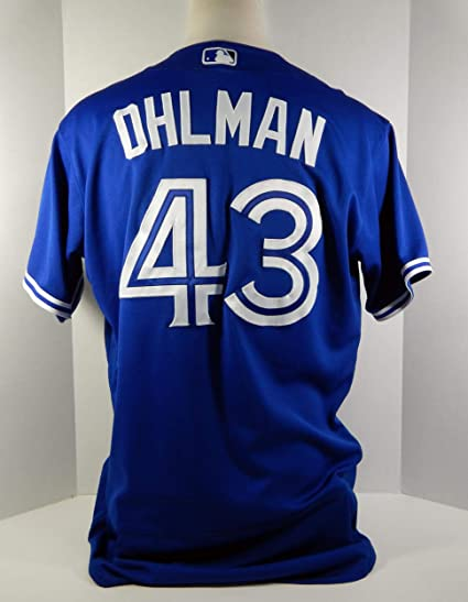 separation shoes c50e4 888b5 2017 Toronto Blue Jays Mike Ohlman #43 Game Issued Blue ...
