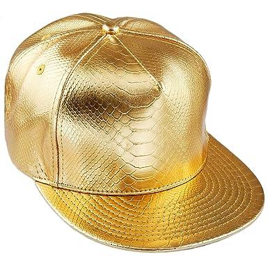 b579b3e9ce6 KYEYGWO PU Leather Gold Baseball Cap for Men Women