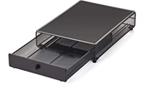 Nifty Appliance Rolling Drawer - Black Open Mesh, Office or Home Kitchen Counter Organizer, Non-Slip Mat Top for Coffee Maker, Stand Mixer, Blender, Toaster (Renewed)