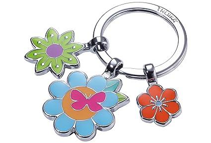 TROIKA Bouquet - KR18-03/CH - Llavero con 3 dijes - Flores ...