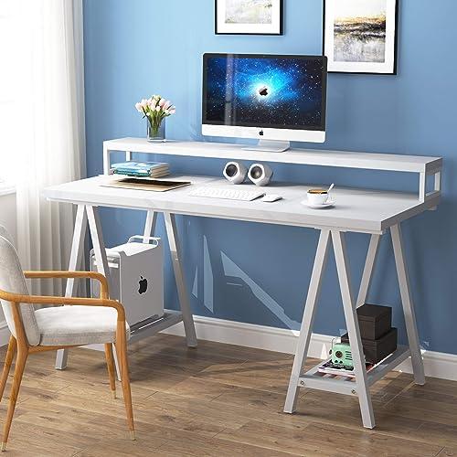 Tribesigns 55 inches White Computer Desk