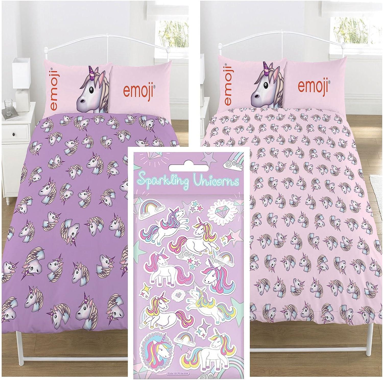 Emoji Unicorn Double Duvet Set