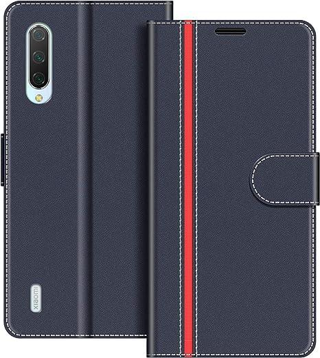 COODIO Funda Xiaomi Mi 9 Lite con Tapa, Funda Movil Xiaomi Mi 9 Lite, Funda Libro Xiaomi Mi 9 Lite Carcasa Magnético Funda para Xiaomi Mi 9 Lite, Azul Oscuro/Rojo: Amazon.es: Electrónica