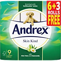 ANDREX Skin Kind Aloe Vera - 2 Ply Toilet Rolls, (Pieces Of 9)