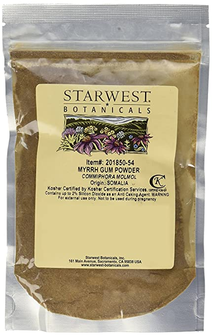 Starwest Myrrh Gum Powder Wildcrafted - 4 Oz