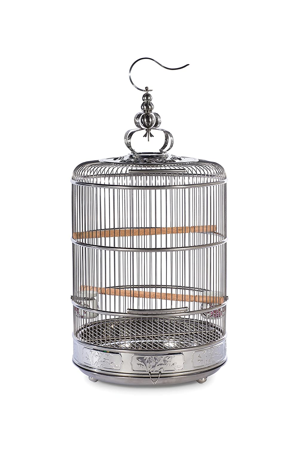PREVUE PET PRODUCTS Empress Stainless Steel Bird Cage 151, Stainless Steel