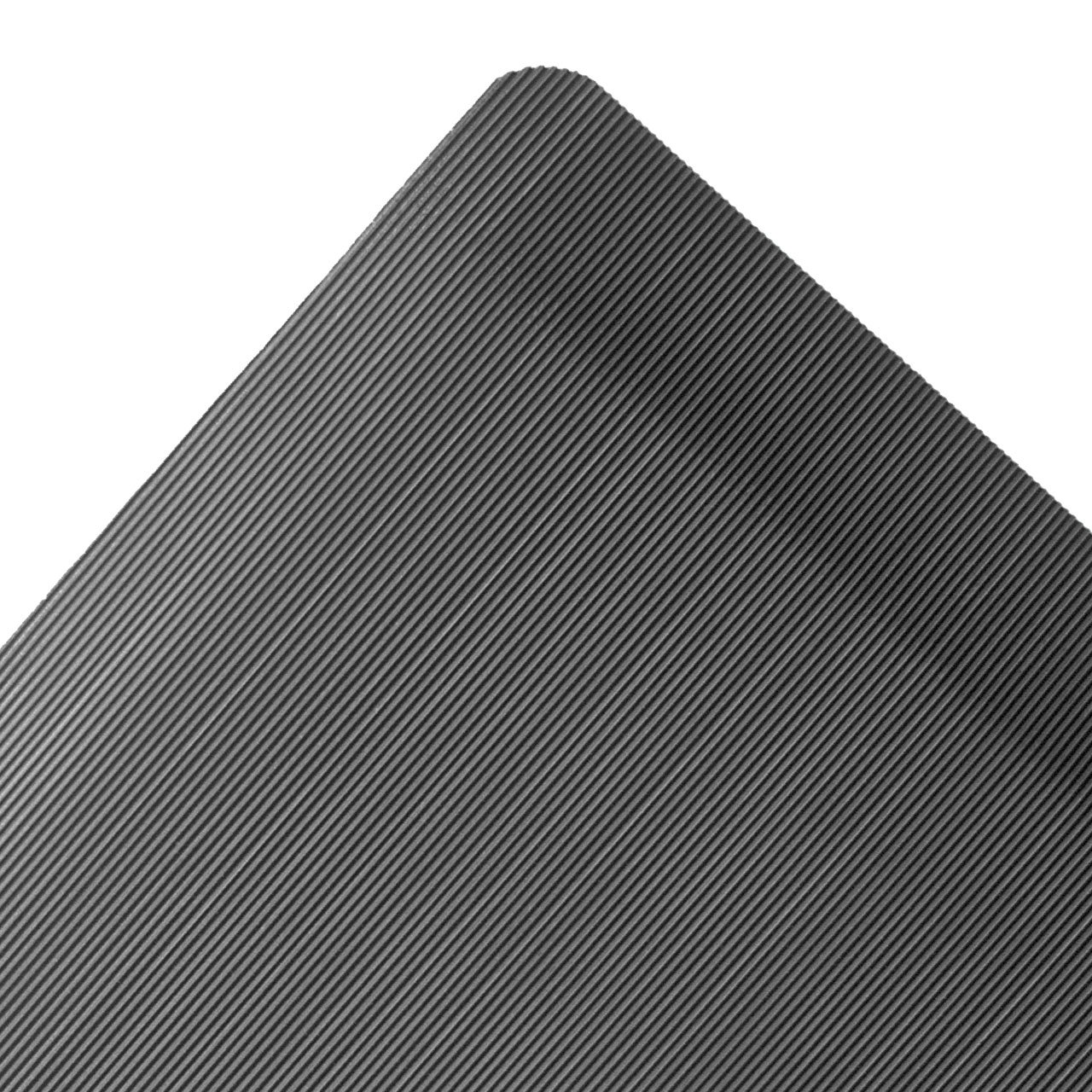 NoTrax Rubber 474 Ergo Anti-Fatigue Mat, for Dry Areas, 3' Width x 5' Length x 1/2'' Thickness, Black