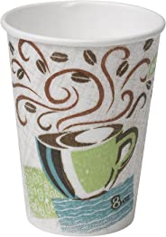 Dixie PerfecTouch 8 oz. Insulated Paper Hot Coffee Cup by GP PRO (Georgia-Pacific), Coffee Haze, 5338DX, 500 Count (25 Cups