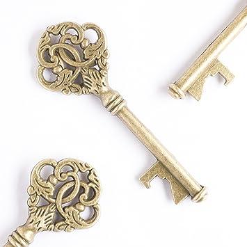 Amazon.com: Ella Celebration Wedding Favors, Vintage Key Bottle ...