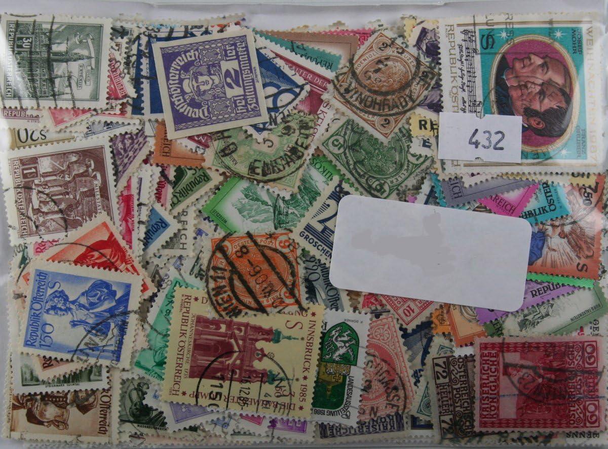 Packung mit 500 /Österreich Briefmarken Anfang an moderne einschlie/ßlich Euro-Gedenkm/ünzen 432