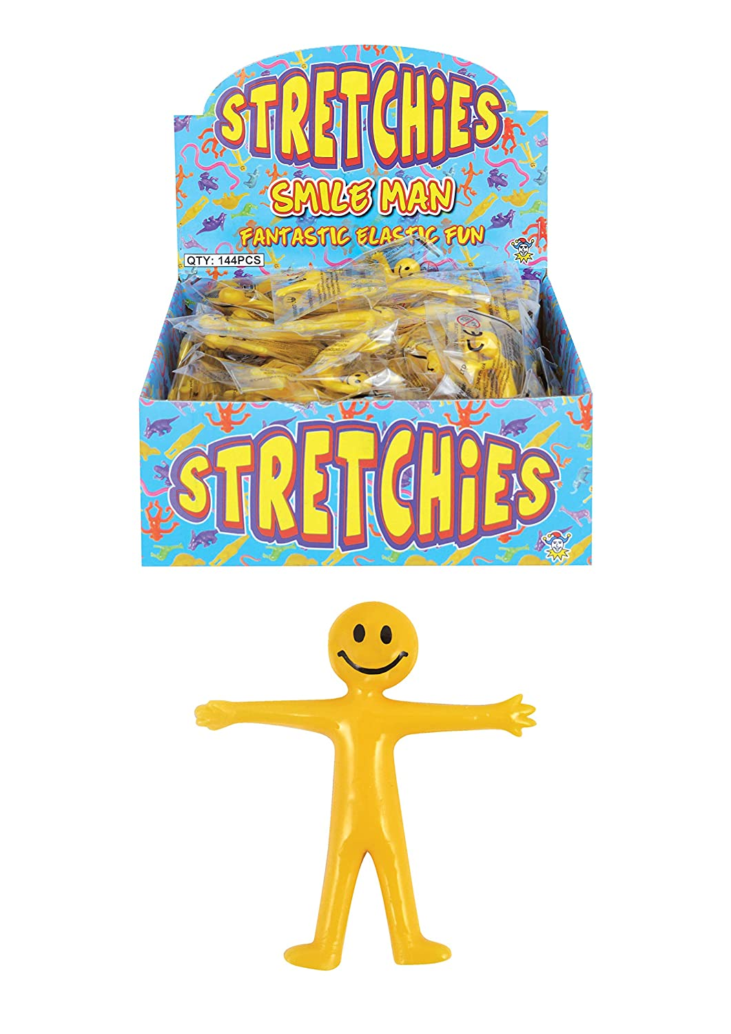 Party Bag Fillers Loot Toys 20 x Mini Stretchy Men