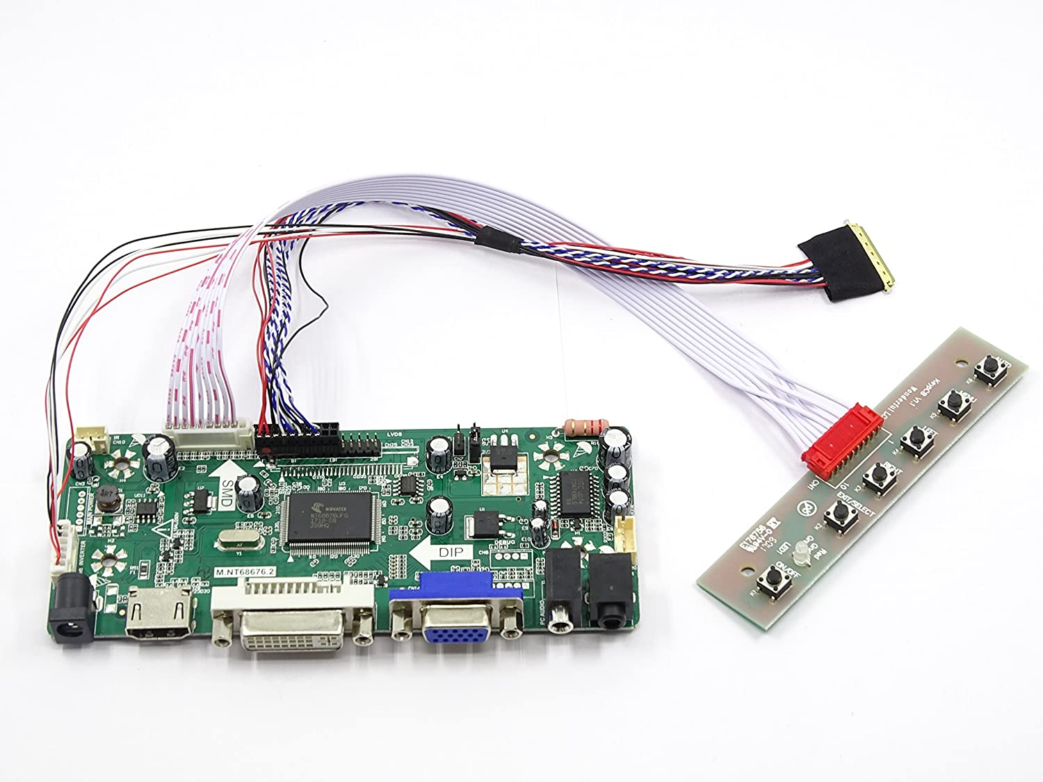 HDMI+DVI+VGA Controller Board Driver kit for LCD Panel LP156WH2(TL)(AC) Driverboard