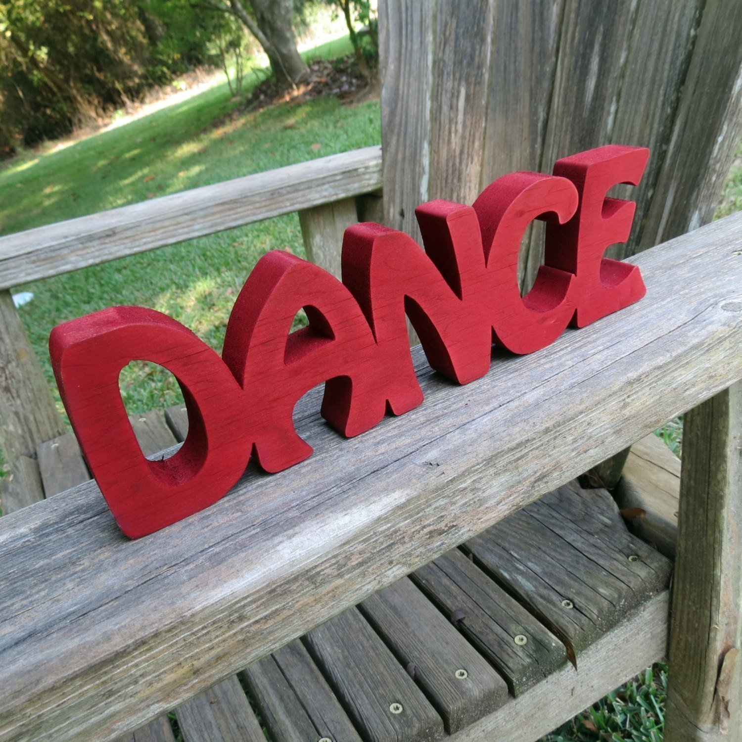 wood dance sign wall hanging or shelf sitter choice of colors