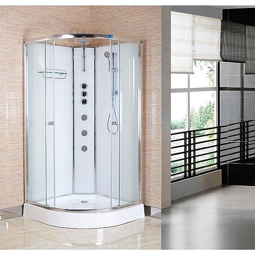 Premier OPUS02-W Mampara de Ducha, Blanco, 900mm x 900mm: Amazon ...