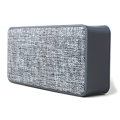 Woozik Home Portable Bluetooth Speaker – with Fabric Surface, Built-in Microphone, AUX, Great for Outdoors and Indoors