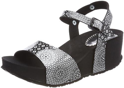 Desigual SHOES BEACH 3 - Sandalias de material sintético para mujer, color negro, talla 37