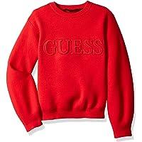 GUESS suéter de Manga Larga con Logo gráfico para niñas