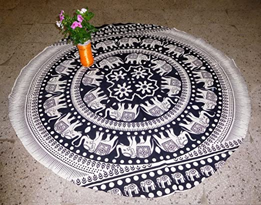 Esterilla de yoga Mandala Mat Toalla de playa (elefante ...