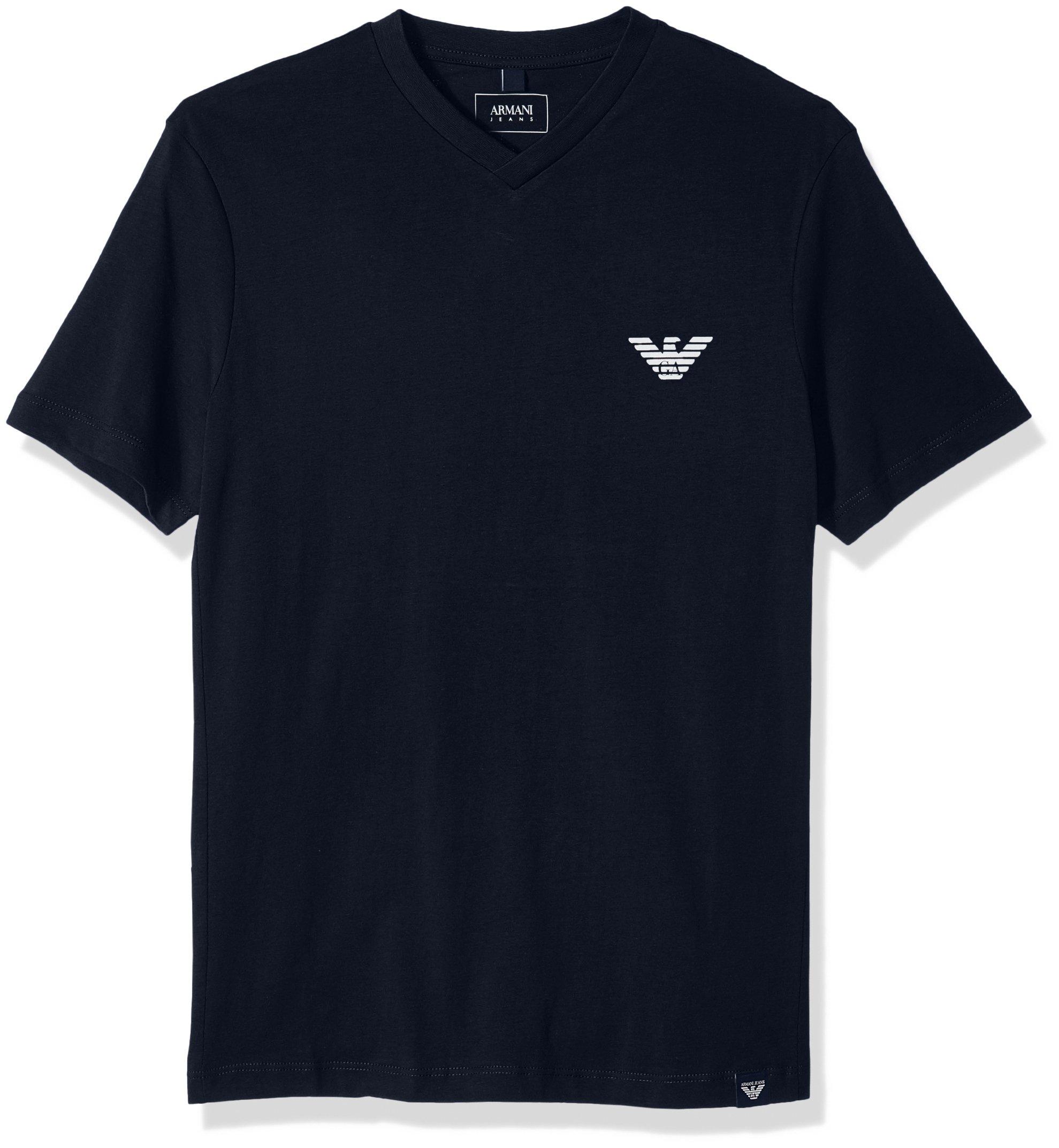ARMANI JEANS Men's Plus Size Side Logo T-Shirt, Blue, Medium