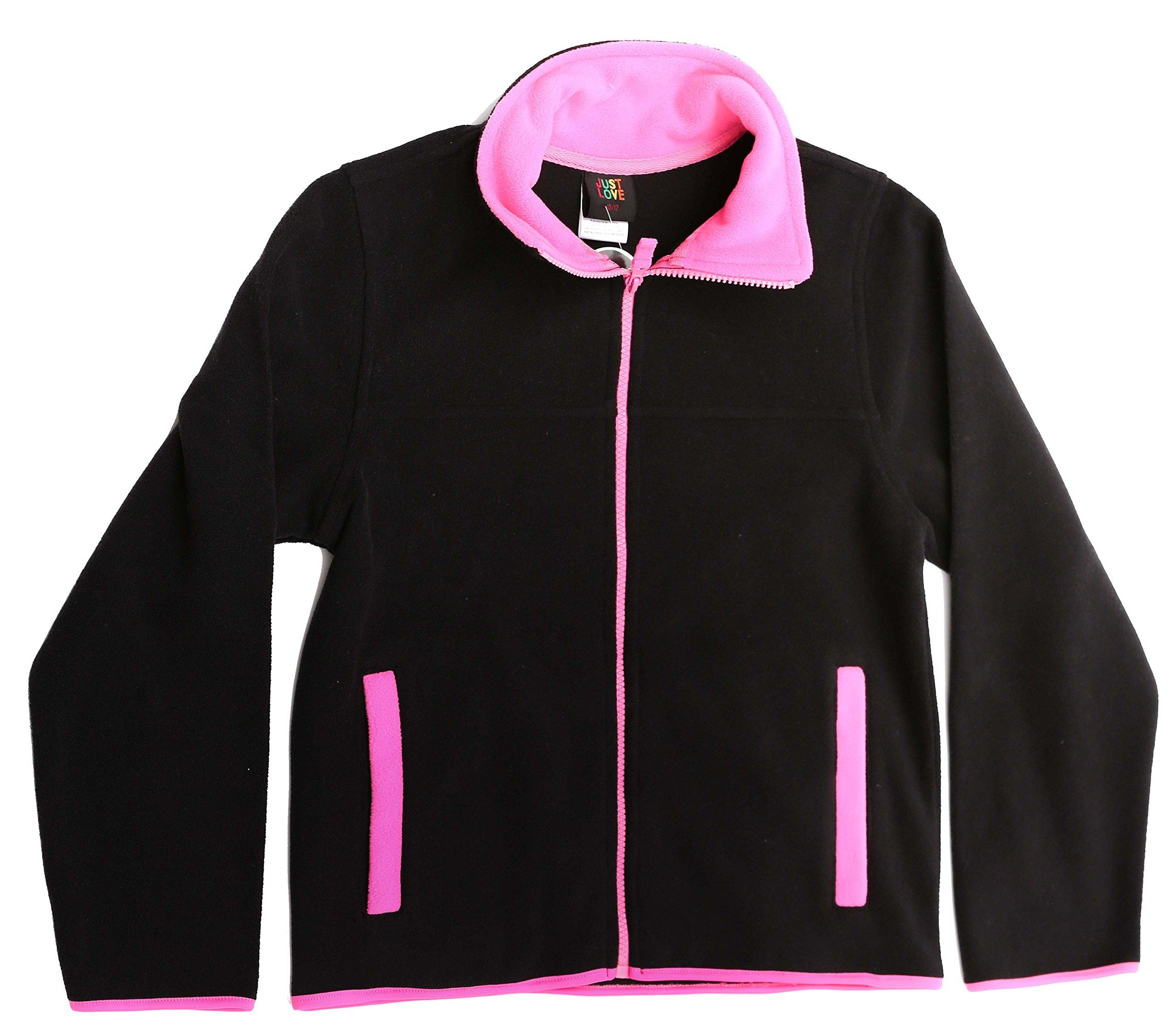 Just Love 98503-BLK-6-6X Solid Polar Fleece Girls Jacket