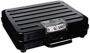 """Rubbermaid Commercial Products FGP250S """"Briefcase"""" Style Digital Receiving Scale for Food Service, English, 250 lb., Black"""