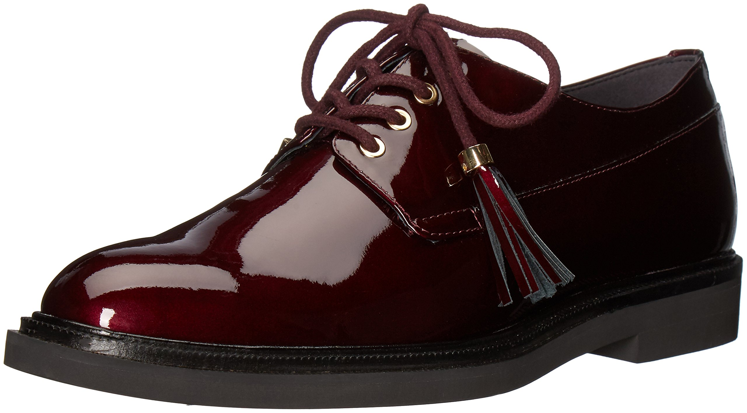 Kenneth Cole New York Women's Annie Menswear Style Leather Oxford, Wine, 9.5 M US