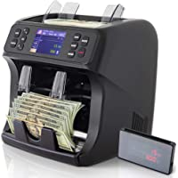DETECK Edge 2 Pocket Mixed Denomination Money Counter Machine 2 Yr Warranty Bank Grade Money Counting Machine Mixed Currency Counterfeit Detection (UV/MG), Reject Pocket Sorting & Printing Enabled