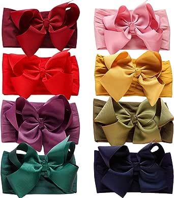 Baby Nylon Headbands Hairbands Hair Bow Elastics for Baby Girls Newborn Infant Toddlers Kids