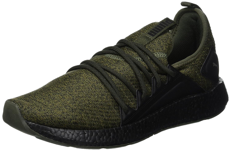 Puma Nrgy Neko Knit, Zapatillas de Entrenamiento para Hombre 39 EU|Verde (Forest Night-puma Black 02)