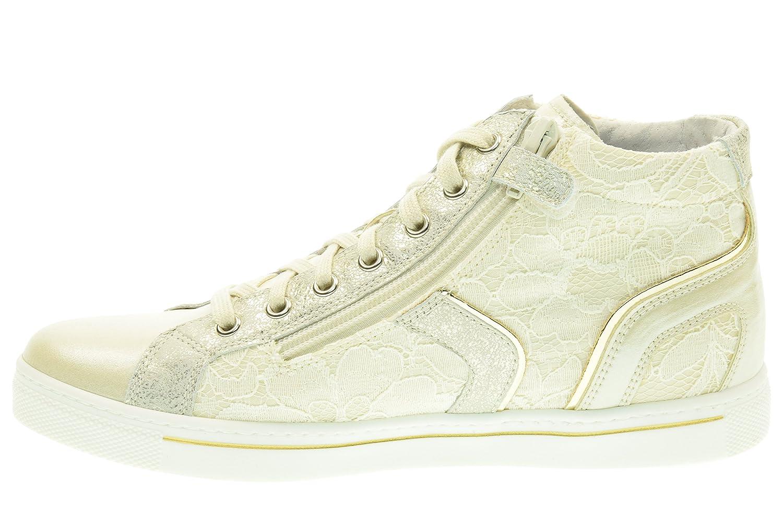 Nero Giardini Junior Sneaker Fille Toile/cuir P631263f - 702 (36, Ivory)