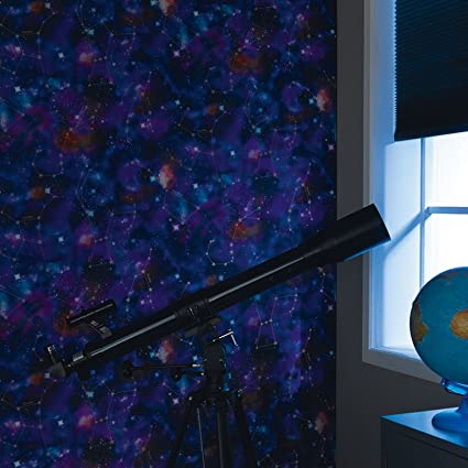 Cosmic Space Glow In The Dark Wallpaper