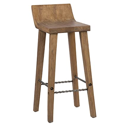Terrific Amazon Com Modhaus Living Rustic Modern Wood Curved Seat Alphanode Cool Chair Designs And Ideas Alphanodeonline