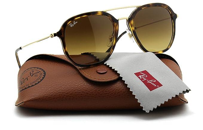 02a990660b Amazon.com  Ray-Ban RB4273 710 85 Aviator Tortoise Frame   Gradient Brown  Lens  Clothing