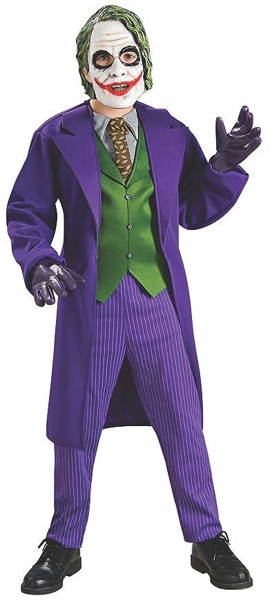 batman joker kostum fur kinder the dark knight halloween violett grun 128 7 8 jahre amazon de spielzeug
