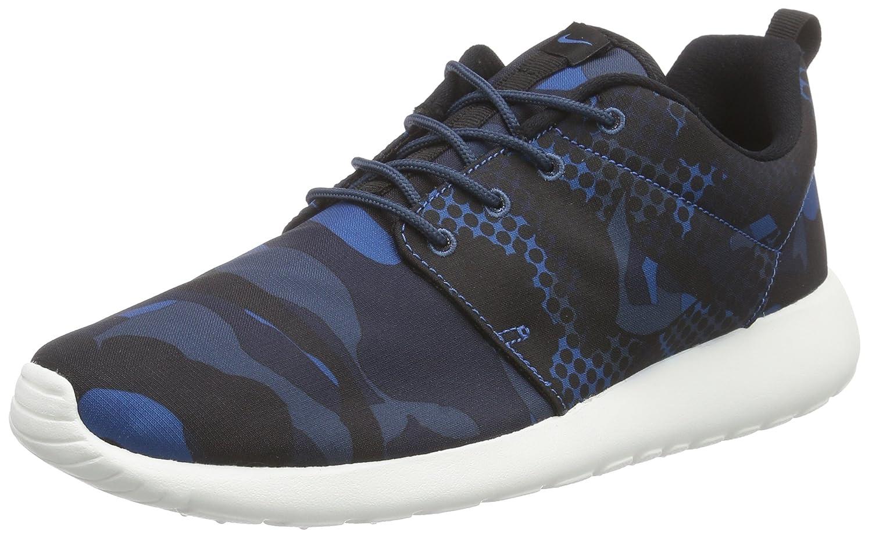 Nike Herren Roshe One Print Sneaker  Schwarz  Media Brgd Blue/Blksqdrn Blobsdn