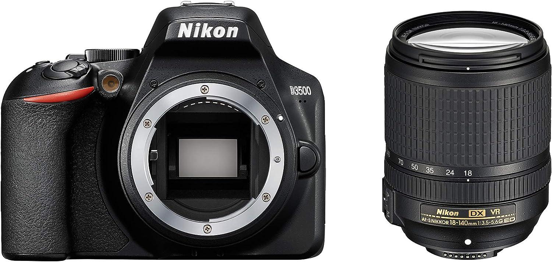 Nikon D3500 + AF-S DX 18–140 VR Juego de cámara SLR 24,2 MP CMOS 6000 x 4000 Pixeles Negro - Cámara digital (24,2 MP, 6000 x 4000 Pixeles, CMOS, Full HD, 365 g, Negro)