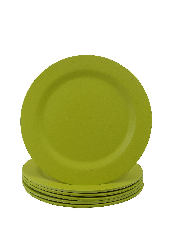Cao Juego de 6platos (20cm), color verde