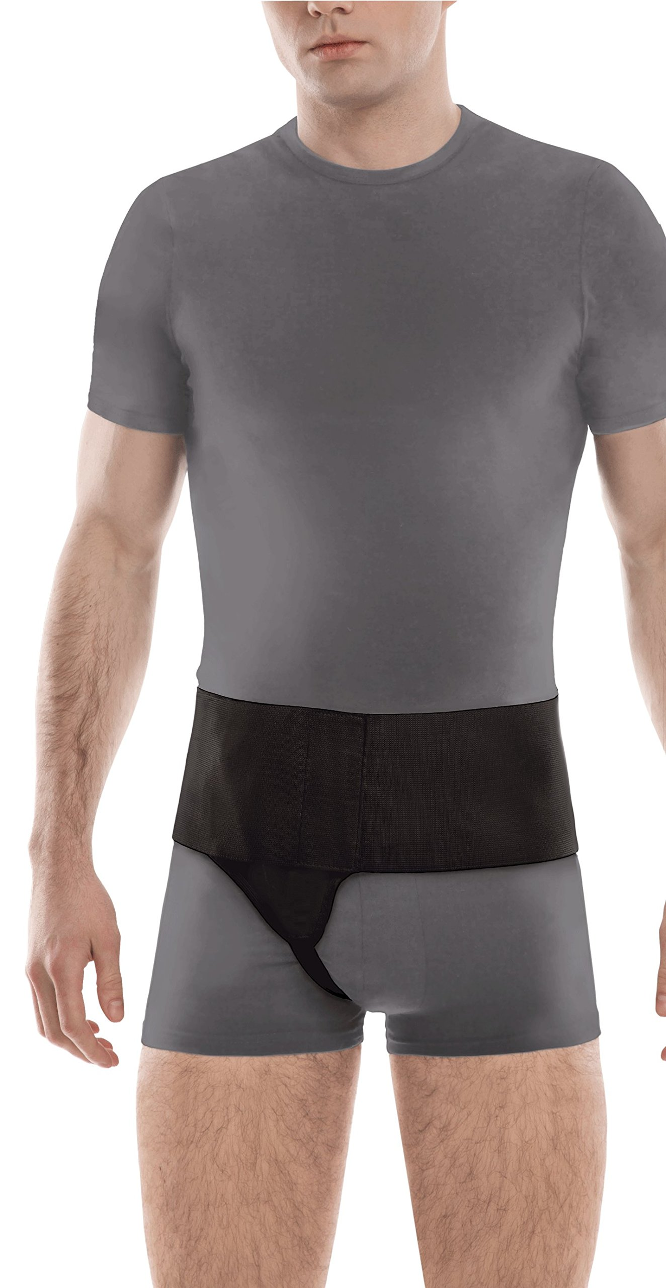 Right Side Inguinal Groin Hernia Belt X-Small Black