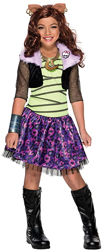 Rubies Costume Childu0027s Monster High Clawdeen Wolf Costume Medium Multicolor  sc 1 st  Amazon.com & Amazon.com: Rubies Costume Childu0027s Monster High Clawdeen Wolf ...
