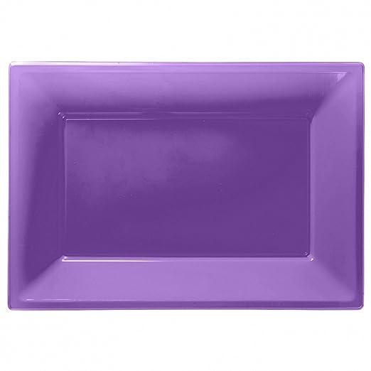 5 opinioni per Amscan- 3 piatti da portata, in plastica, viola