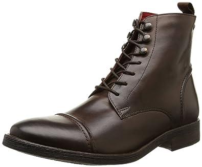 new concept 414e6 cf75c Amazon.com   Base London Men's Clapham Leather Combat Boots ...