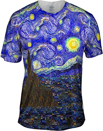 Yizzam Vincent Van Gogh – la Noche Estrellada – Tshirt- Mens Camiseta