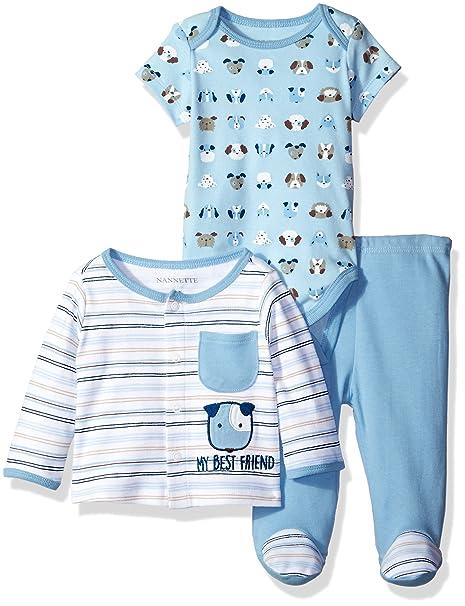 Amazon.com: Nannette bebé Boys 3 piezas chaqueta de punto ...