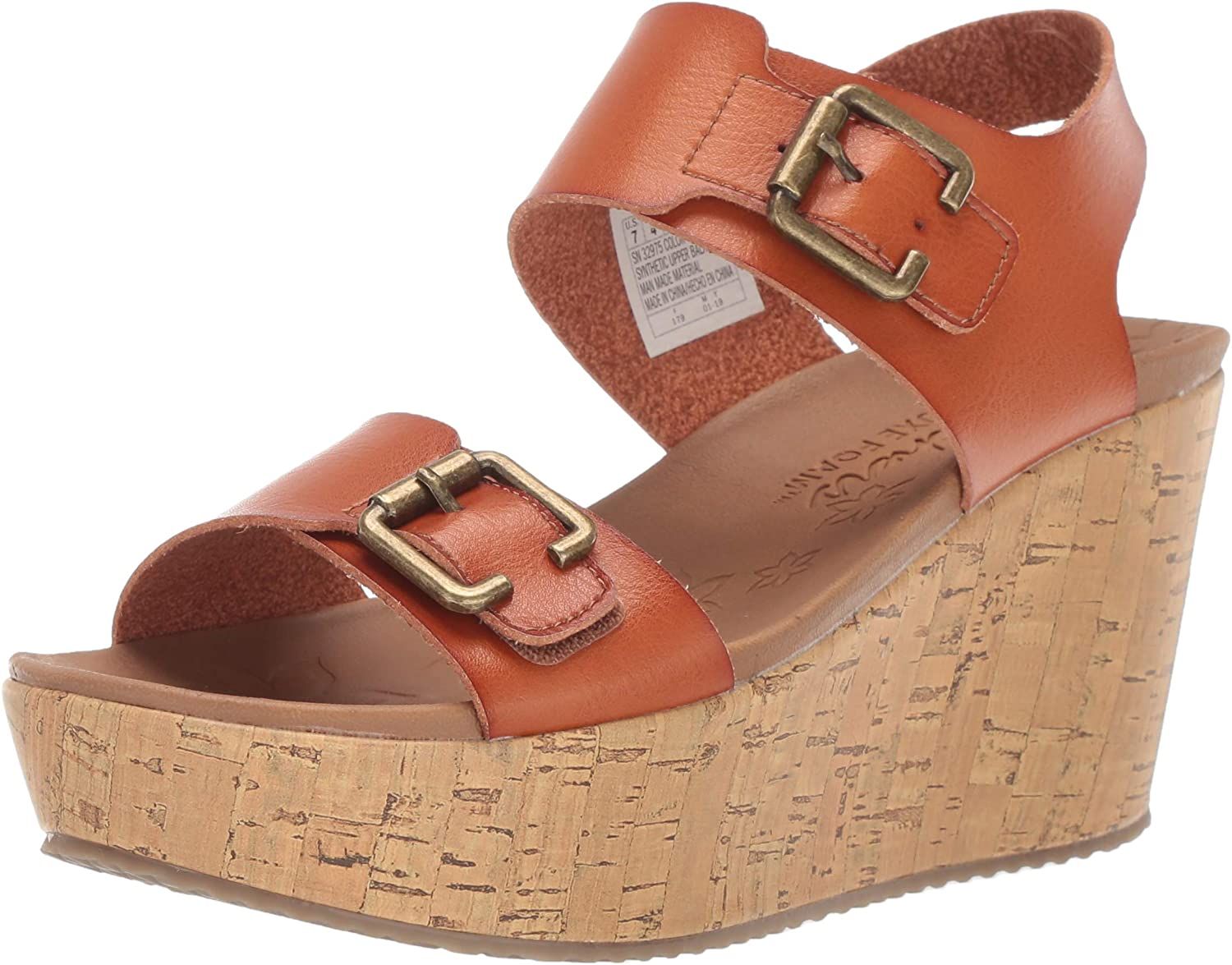 Skechers Women's Brit-Go Getter-High-Wedge Quarter Strap Sandal