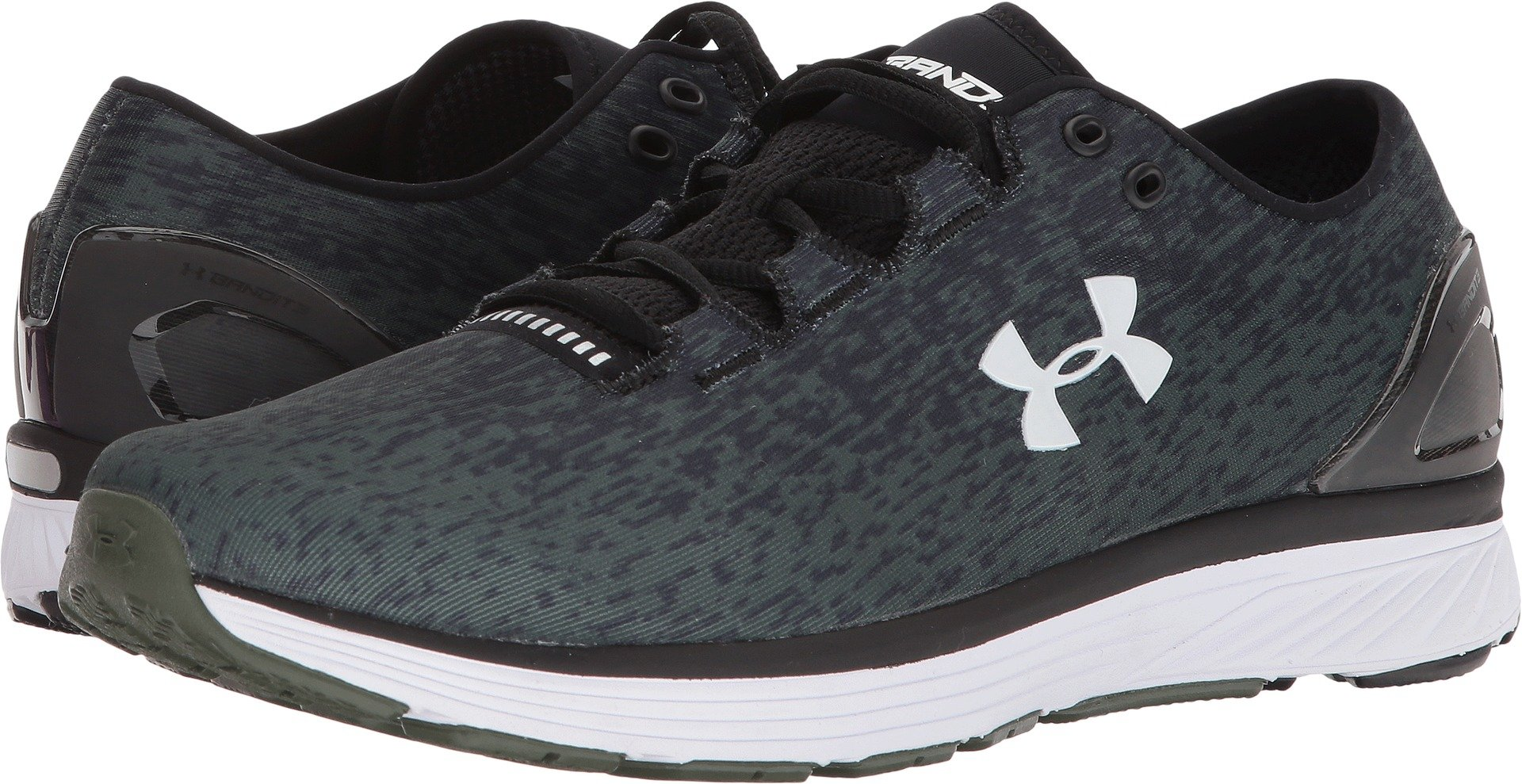 Under Armour  Men's UA Charged Bandit 3 Ombre Black/Downtown Green/White 15 D US by Under Armour