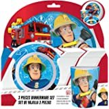 Fireman Sam Boys breakfast set, 3 pieces - White