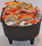 Halloween Witches Cauldron Containing 80 Fun Size Bags of Haribo Sweets. Perfect For Trick Or Treat.